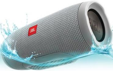 JBL Charge 3 Waterproof Portable Bluetooth Speaker (Grey)