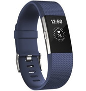 Fitbit Charge 2 Heart Rate Fitness Band (Blue Large)