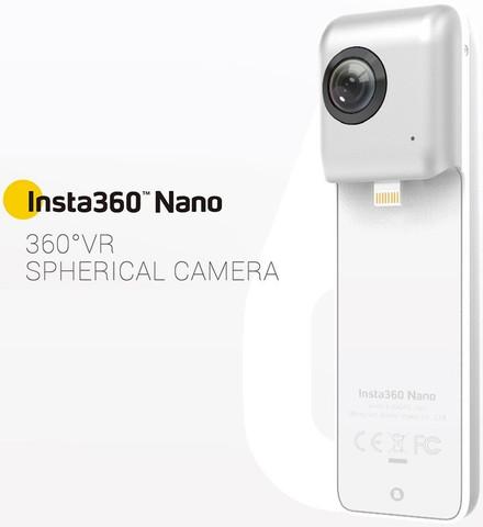 Insta360 Nano 360 Degree Dual Lens (3K Video Camera)