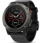 Garmin Fenix 5X Slate Grey Sapphire Glass with Black Band (51mm Diameter )