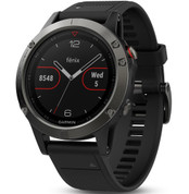 Garmin Fenix 5 Slate Grey Sapphire Glass with Black Band (47mm Diameter )