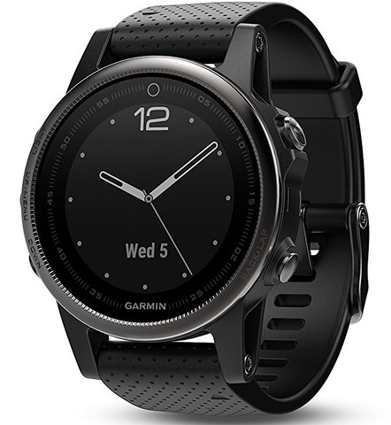 Garmin Fenix 5S Sapphire Glass Black with Black Band (42mm Diameter )