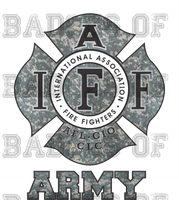 IAFF ARMY Camo Decal