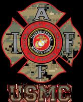 IAFF USMC CAMO Decal
