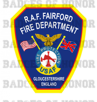 RAF Fairford Fire Protection Unoffical Shirt