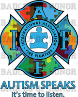 IAFF AUTISM Speaks SHIRT