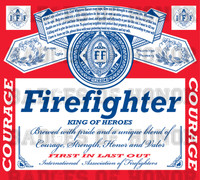 Firefighter Budweiser parody shirt