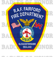RAF Fairford Fire Department Decal
