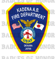 Kadena Air Force Base Fire Department Decal