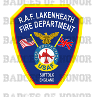 RAF Lakenheath Fire Department Decal