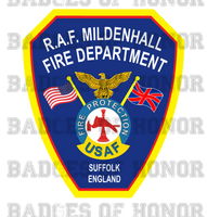 RAF Mildenhall Fire Department Decal