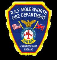 RAF MolesworthFire Department Decal