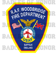 RAF Woodbridge Fire Department Decal