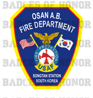 Osan Air Base Fire Department Decal