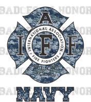 IAFF NAVY Camo Decal