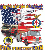 USAF Fire Protection Truck Shirt