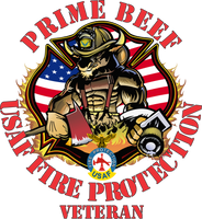 USAF Prime Beef Firefighter Decal