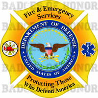 DOD Fire and Emergency Services Decal