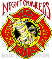 Tampa Fire Rescue Station 15 New Zombie Shirt