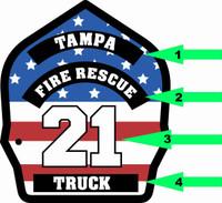 Customizable Firefighter Helmet Shield Shirt