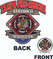 Tampa Fire Rescue  New Station 11 Zoo Shirt