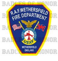 RAF Wethersfield Fire Department Shirt