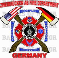 Zweibrucken Air Base Fire Department Shirt