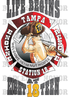 Tampa Fire Rescue New Station 18 decal