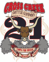 Tampa Fire Rescue Station 21  Cross Creek Cattle Company Shirt
