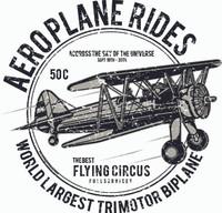 Vintage Aeroplane Rides Shirt