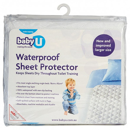 Baby U Waterproof Sheet Protector for Single Bed