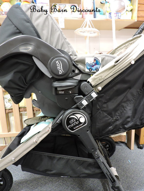 Britax -New Unity Carrier  - Click & Go Receiver - to Fit Baby Jogger City Mini, Mini GT and Elite