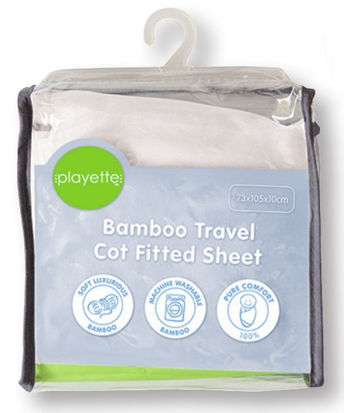 Playette - Travel Cot Fitted Sheet - Bamboo