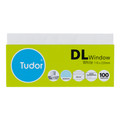 Tudor Envelopes DL Windowface White Pk/100