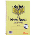 Spirax #570 Notebook A5 2 Note Pockets 200 Page Pack 5