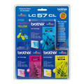 Brother LC57 Tri-Colour Ink Value Pack