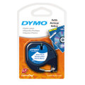 Dymo LetraTag White Plastic Tape 12mm x 4m SD91201