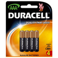 Duracell Coppertop AAA Batteries Pk/4