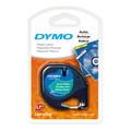 Dymo LetraTag Plastic Green Tape 12mm x 4m SD91204