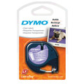 Dymo LetraTag Black on Clear Tape 12mm x 4m SD12267