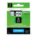 Dymo D1 Black on White Tape 9mm x 7m SD40913