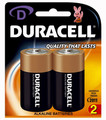 Duracell D Batteries Pk/2