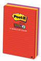3M 660-3SSAN Post-it Super Sticky Notes Neon Lined 98 x 149mm Pk/3