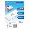 UNISTAT Laser Inkjet & Copier Labels 105 x 74mm 8 Labels/Sheet 800 Labels/Pk