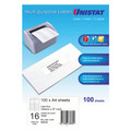 UNISTAT Laser Inkjet & Copier Labels 105 x 37mm 16 Labels/Sheet1600 Labels/Pk