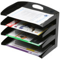 Marbig Metal Organiser 4 Tier Curved Black
