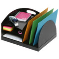 Marbig Metal Organiser 2 Way Curved Black
