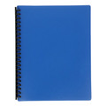 Marbig A4 20 Pocket Display Book with Coloured Cover Blue