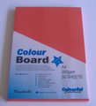 Colourboard Scarlet A4 210x297mm 50/Pack