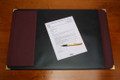 Cumberland Executive Desk Mat 475 X 700 mm, Black/Burgundy Trim OM1029